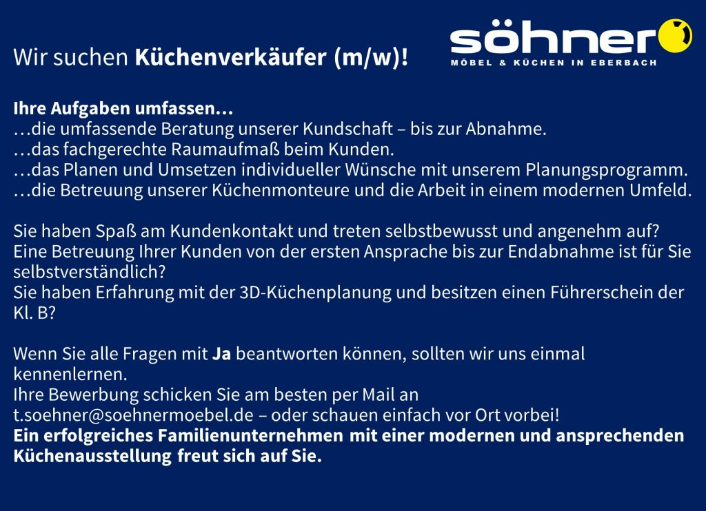 Sohner Mobel Kuchen Eberbach Blog